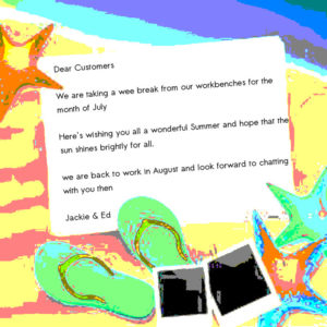 Image of summer holiday notice