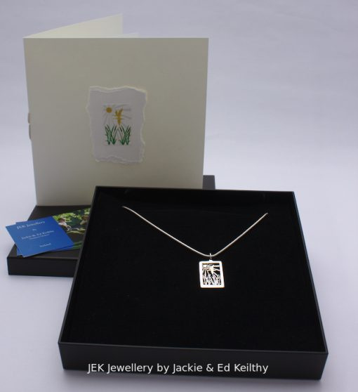 "an Image of piece the box and the hardmade card rthat accompany the piece "" Together Foreve"" piece by Jackie & Ed Keilthy"
